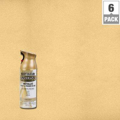 11 oz. All Surface Metallic Pure Gold Spray Paint and primer in 1 (6-Pack)