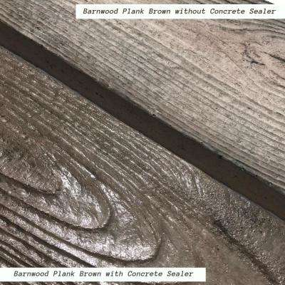 75 sq. ft. Barnwood Plank Patio-On-A-Pallet Paver Set in Brown