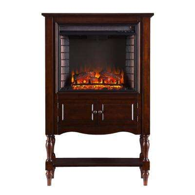 Arlington 32.25 in. W Electric Fireplace Tower in Mahogany