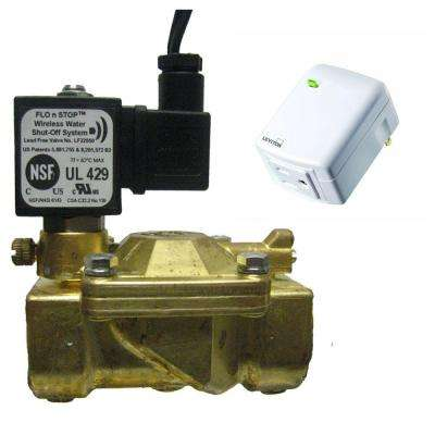 Total Home Remote Water On/Off Certified 1 in. Brass Solenoid Valve to Use with The Wink Hub