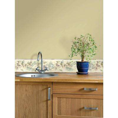 Kitchen Bath Bed Resource III Leaf Scroll Wallpaper Border