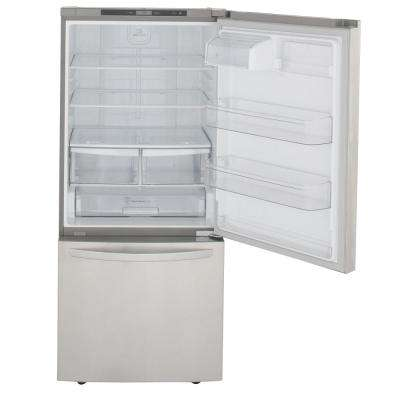 30 in. W 22 cu. ft. Bottom Freezer Refrigerator in Stainless Steel