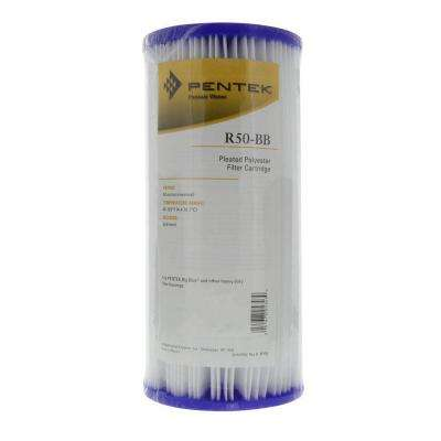 R50-BB 9-3/4 in. x 4-1/2 in. Pleated Polyester Water Filter