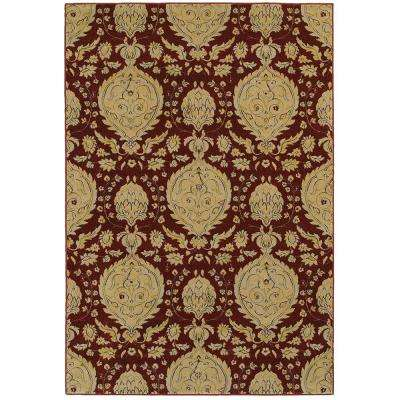 Antigua Red 9 ft. 2 in. x 12 ft. 6 in. Plush Indoor Area Rug