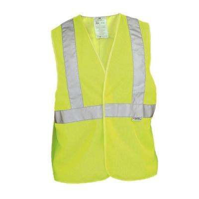 High-Visibility Yellow Reflective Personal Safety Vest (Case of 6)