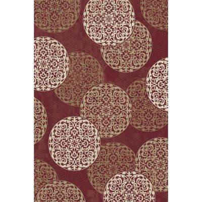 Melody Red 2 ft. x 3 ft. 7 in. Indoor Accent Rug