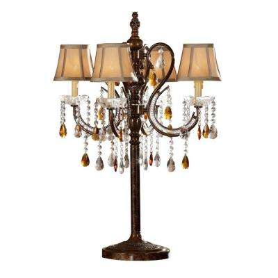 32 in. Antique Bronze Table Lamp-DISCONTINUED