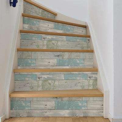 Multi Color Beachwood Wallpaper
