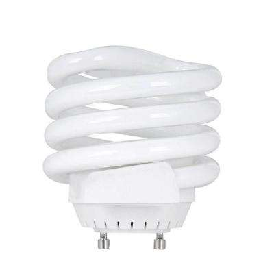 100W Equivalent Soft White (2700K) Spiral Squat GU24 Base CFL Light Bulb (12-Pack)