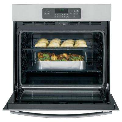 30 in. Single Electric Wall Oven Self-Cleaning with Steam in Stainless Steel