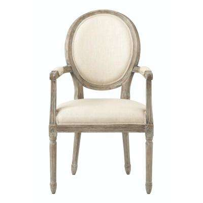 Jacques Natural Linen Dining Chair
