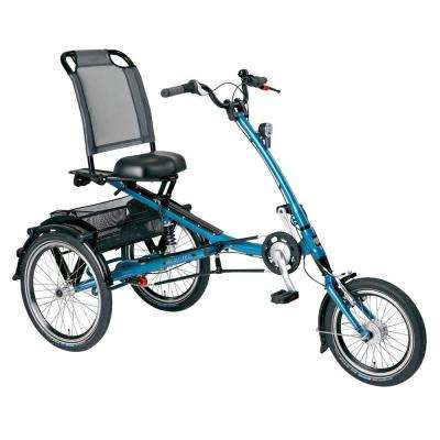 PFIFF 16-20 in. Unisex ScooterTrike L Adult Tricycle Wheels in Blue