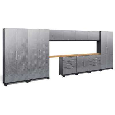 Performance Diamond Plate 2.0 72 in. H x 186 in. W x 18 in. D Garage Cabinet Set in Silver (12-Piece)