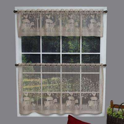 Farmhouse 60 in. L Polyester Valance in Natural