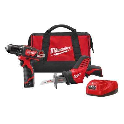 M12 12-Volt Lithium-Ion 3/8 in. Cordless Drill/Driver HACKZALL Combo Kit