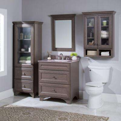 Albright 30 in. W Bath Vanity Cabinet Only in Winter Gray