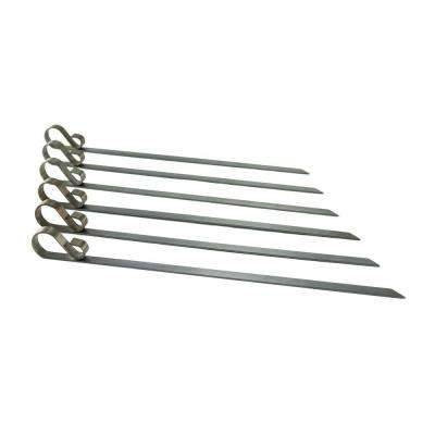 Stainless Flat Skewers (Set of 6)