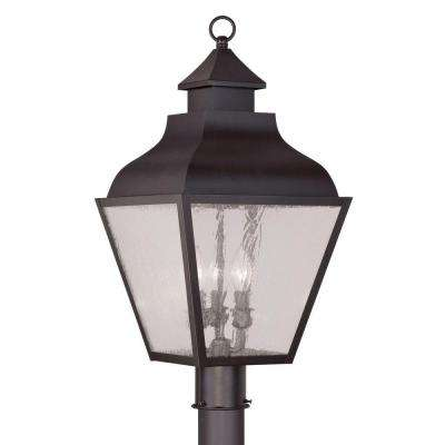 Providence 3-Light 23.5 in. Outdoor Bronze Post Head Lantern