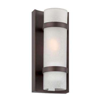 Apollo Collection 1-Light Architectural Bronze Outdoor Wall Mount Light Fixture