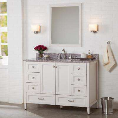 Claxby 49 in. W x 22 in. D Bathroom Vanity in Cream with Stone Effect Vanity Top in Mineral Gray with White Sink