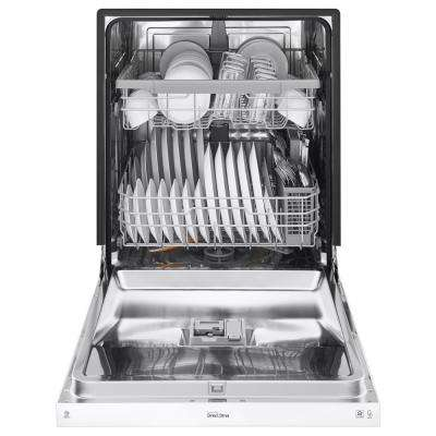 Front Control Built-In Tall Tub Dishwasher in White with Stainless Steel Tub, 48 dBA