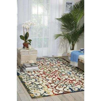 Home and Garden Multi 4 ft. x 6 ft. Indoor/Outdoor Area Rug