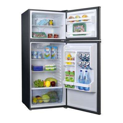 10.0 cu. ft. Top Freezer Refrigerator with Dual Door, Frost Free in Stainless Steel Look