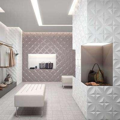 Hoja Blanco 6 in. x 6 in. Ceramic Wall Tile (5.97 sq. ft. / case)