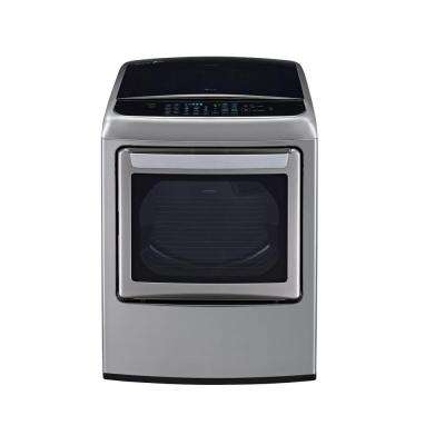 7.3 cu. ft. Electric Dryer with EasyLoad and Steam in Graphite Steel
