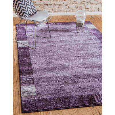Del Mar Sarah Purple 2' 7 x 10' 0 Runner Rug