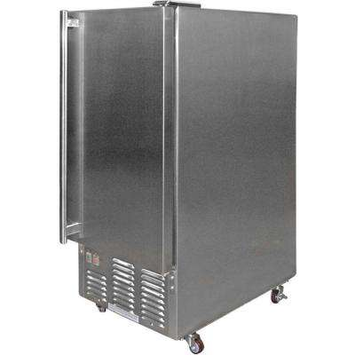 1.71 cu. ft. Built-In Stainless Steel Outdoor Ice Maker