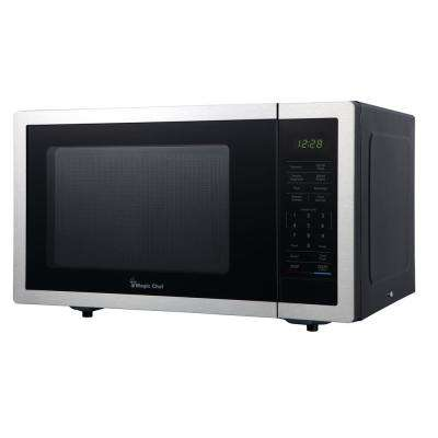 0.9 cu. ft. Countertop Microwave in Stainless Steel with Gray Cavity