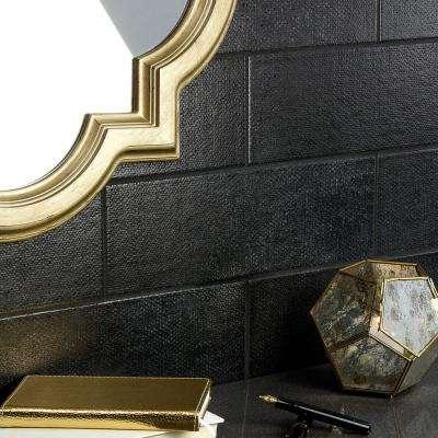 Piston Camp Black 4 in. x 12 in. 7mm Matte Ceramic Subway Wall Tile (34-piece 10.97 sq. ft. / box)