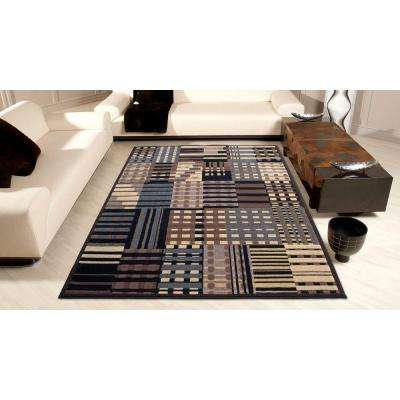 Modesto Stripes Grey 8 ft. x 11 ft. Area Rug