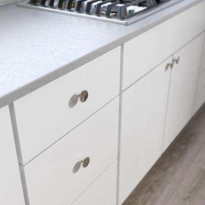 Concave 1-1/2 in. (38 mm) Satin Nickel Round Cabinet Knob