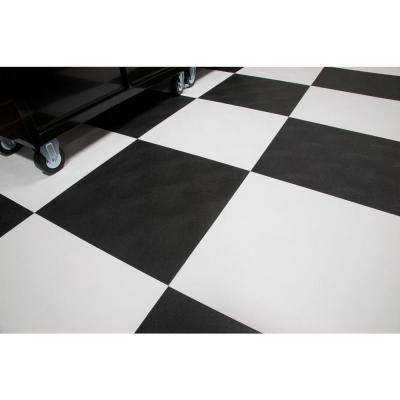 RaceDay Levant Midnight Black 24 in. x 24 in. Peel and Stick Polyvinyl Tile (40 sq. ft. / case)