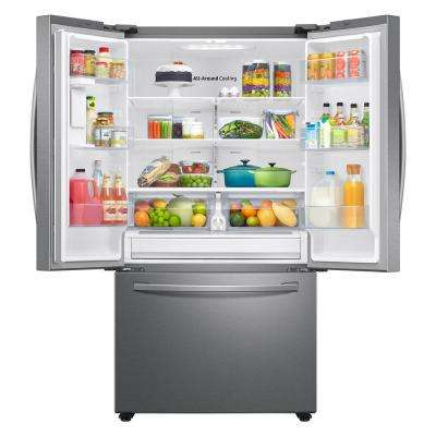 28.2 cu. ft. French Door Refrigerator in Stainless Steel with internal water dispenser