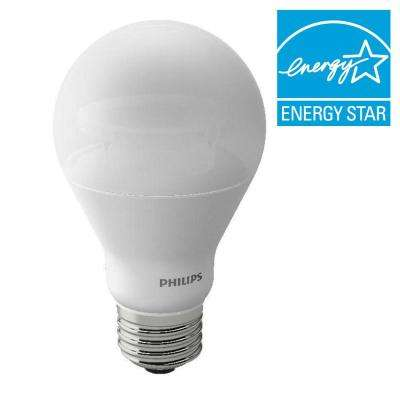 40W Equivalent Soft White (2200K - 2700K) A19 Dimmable LED with Warm Glow Light Effect Light Bulb (E)