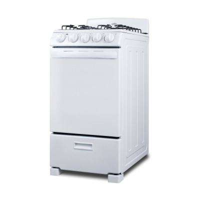 20 in. 2.3 cu. ft. Gas Range in White