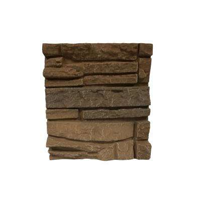 Stacked Stone Desert Sunrise 11 in. x 11 in. Faux Stone Siding Sample