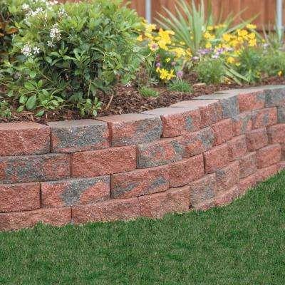 4 in. x 11.75 in. x 6.75 in. Oaks Blend Concrete Retaining Wall Block
