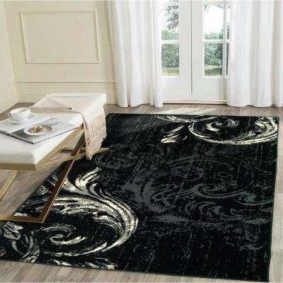 Infinity Black/Anthracit 5 ft. x 7 ft. Indoor Area Rug