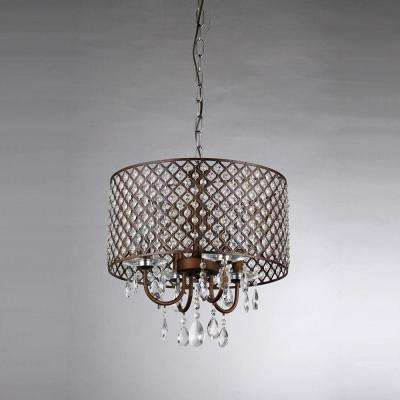 Alexia 4-Light Antique Bronze Chandelier with Shade