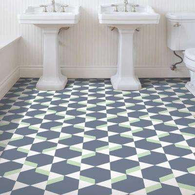 Madison Avenue Green and Grey 13.2 ft. Wide x Your Choice Length Residential Vinyl Sheet Flooring