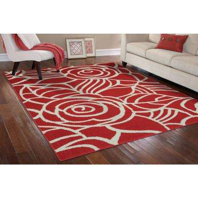 Rhapsody Santa Fe Coral/Ivory 8 ft. x 10 ft. Area Rug