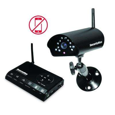 Digital Wireless Indoor/Outdoor Camera Record System (SD) Kit with Night Vision and Audio
