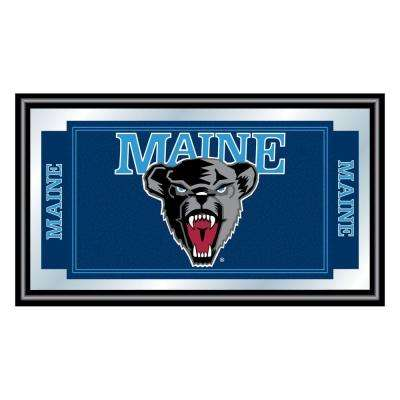 University of Maine 15 in. x 26 in. Black Wood Framed Mirror