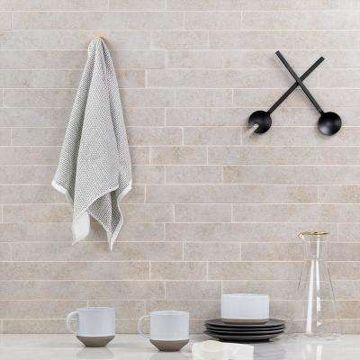 Limestone Silver 12 in. x 24 in. 10mm Matte Porcelain Floor and Wall Mosaic Tile (6 pieces / 11.62 sq. ft. / box)