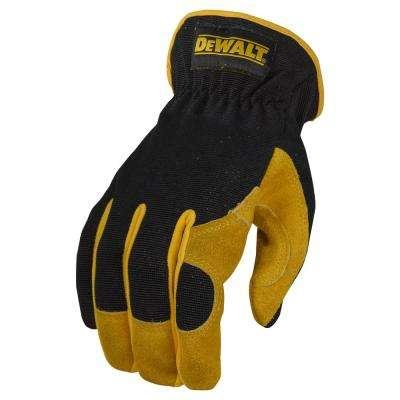 Black Leather Performance Hybrid Glove