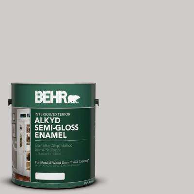 1-gal. #AE-49 Polished Silver Semi-Gloss Enamel Alkyd Interior/Exterior Paint